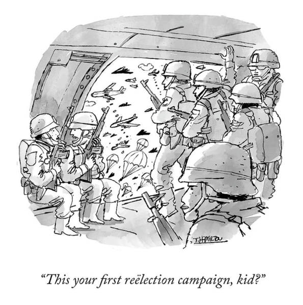 Drawing - First Reelection Campaign by Tim Hamilton