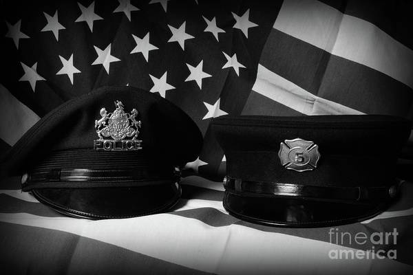 Wall Art - Photograph - First Responders In Black And White by Paul Ward