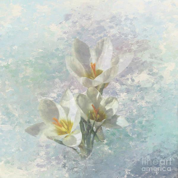 Saffron Digital Art - First Sign Of Spring by Elisabeth Lucas