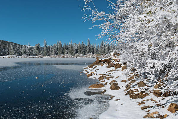 Photograph - First Snow At Echo Lake by Cascade Colors
