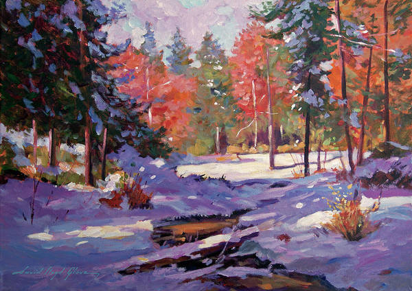 Painting - First Snow Autumn by David Lloyd Glover