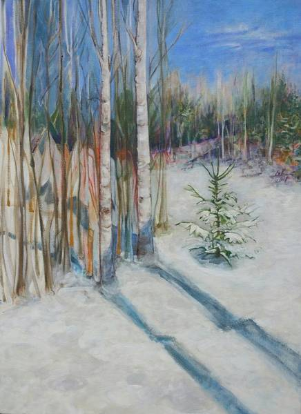 Adirondack Mountains Painting - First Snow by Elizabeth Kisseleff