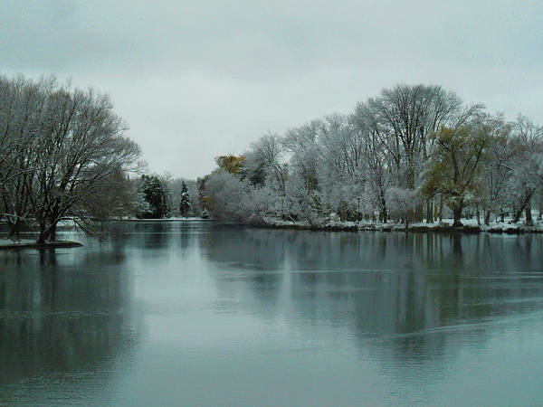 Photograph - First Snow Fall 11 by Cyryn Fyrcyd