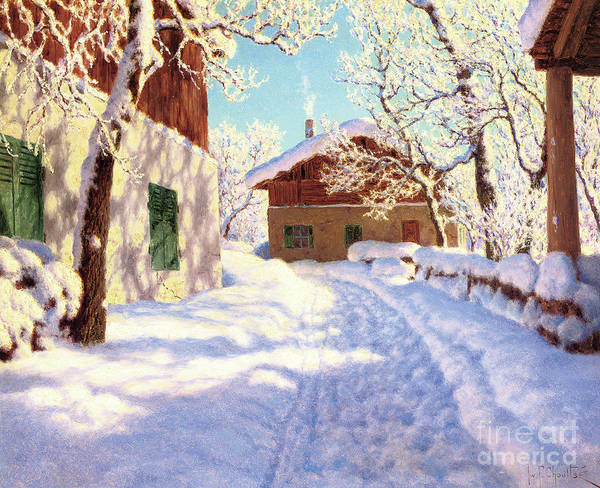 Wall Art - Painting - First Snow by Ivan Fedorovich Choultse