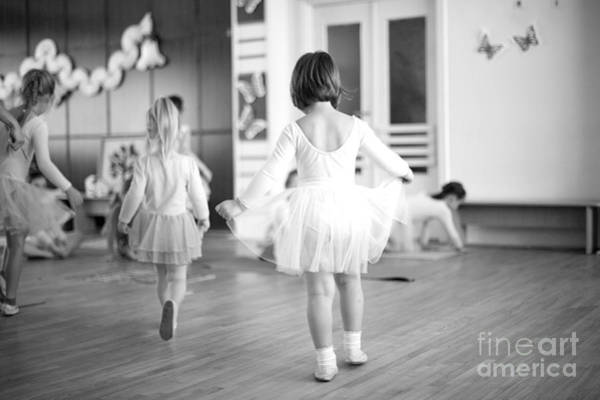 Developed Wall Art - Photograph - First Steps Of Small Ballerinas by Anna Jurkovska