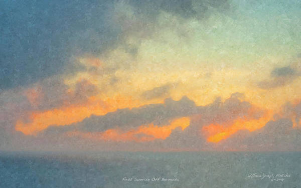 Painting - First Sunrise Off Bermuda by Bill McEntee