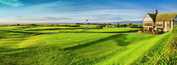 Wall Art - Photograph - First Tee And Fairway With Clubhouse by Panoramic Images