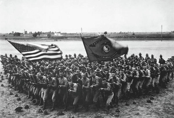 Wall Art - Photograph - First To Fight 1918 by Usmc