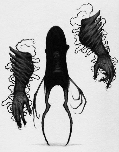 Drawing - Firstborn Of The Orphan Wing - Artwork by Ryan Nieves