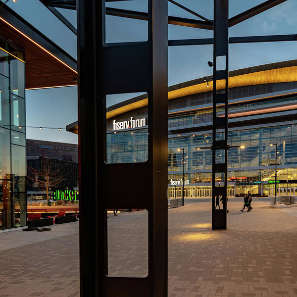 Photograph - Fiserv Forum Framed by Randy Scherkenbach
