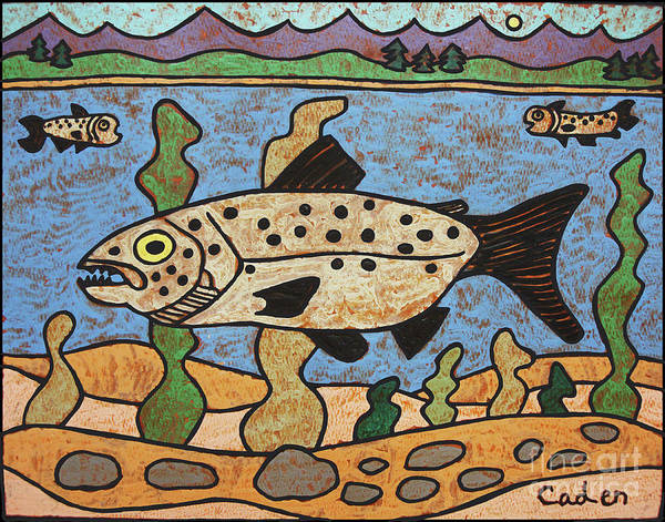 Painting - Caden's Fish by Amy E Fraser and Caden Fraser Perkins
