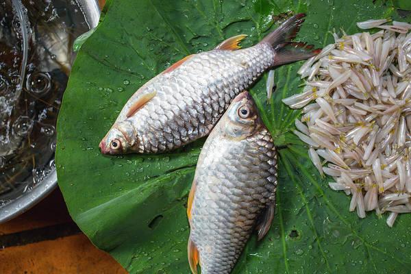 Fish At The Market Art Print