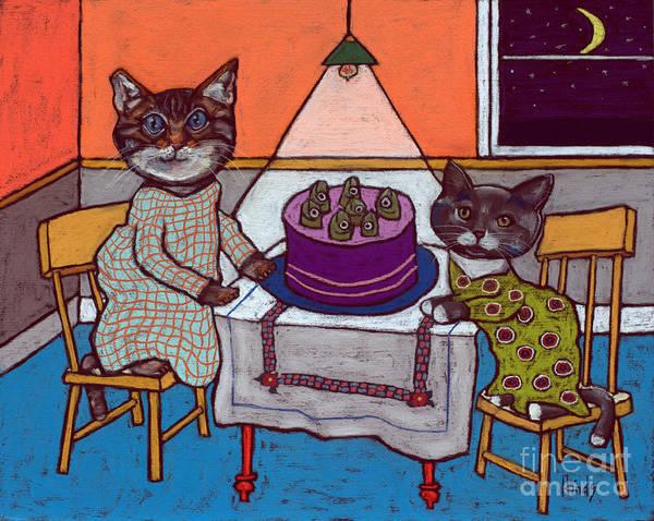 Wall Art - Painting - Fish Cake Kittens by David Hinds