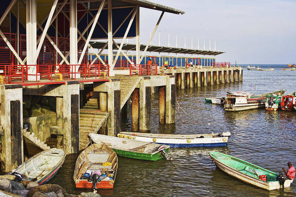 Photograph - Fish Market Pier In Panama by Tatiana Travelways