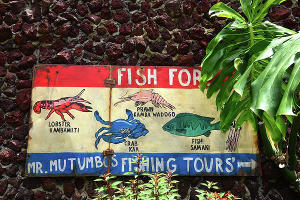 Craw Wall Art - Photograph - Fish Market Sign by David Lee Thompson