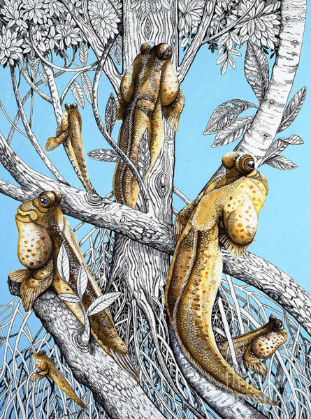 Wall Art - Painting - Fish Out Of Water by Susan Cartwright