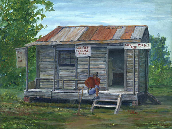 Painting - Fish Store, Natchitoches Parish, Louisiana by Lenora De Lude