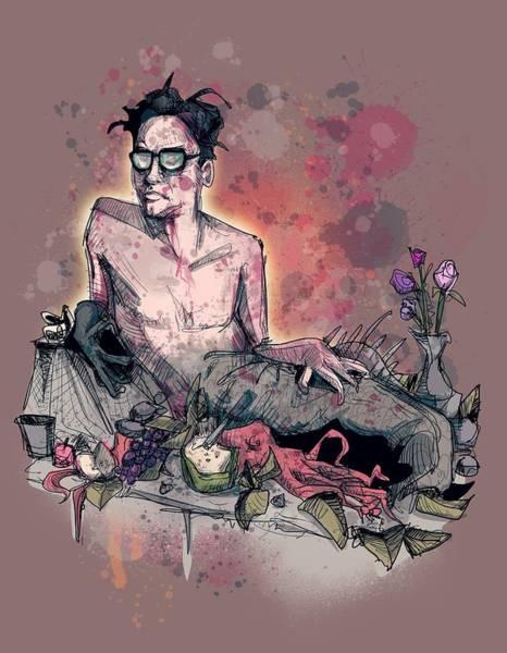 Drawing - Fishboy by Ludwig Van Bacon