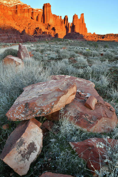 Photograph - Fisher Tower Sunset In Utah by Ray Mathis