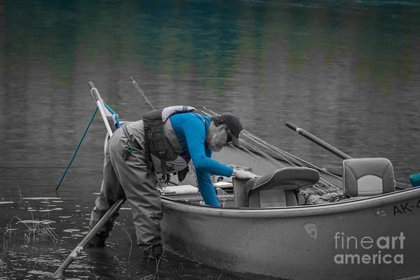 Photograph - Fisherman At Kenai River by Eva Lechner