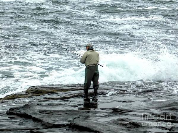 Photograph - Fisherman In York Maine At Atlantic Ocean 2 Soft Abstract Effect by Rose Santuci-Sofranko