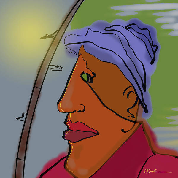 Digital Art - Fisherman by Jeff Quiros