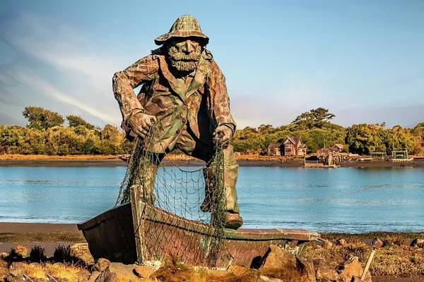 Photograph - Fisherman Memorial by Bill Gallagher