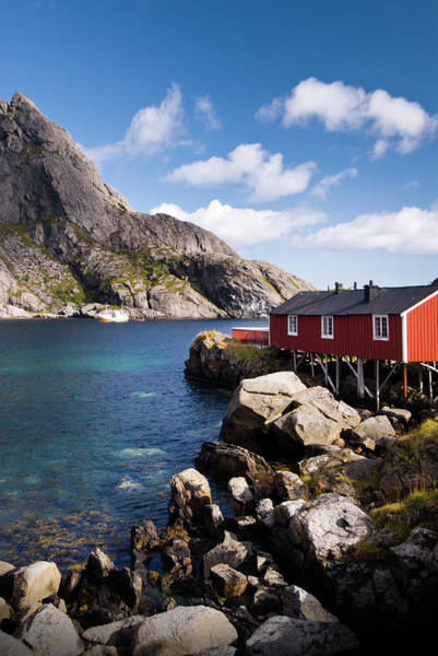 Log House Photograph - Fishermans Cabin Rorbuer, Nusfjord by Banana Pancake