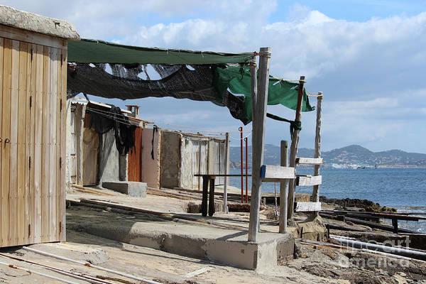 Wall Art - Photograph - Fisherman's Huts Ibiza by Eddie Barron