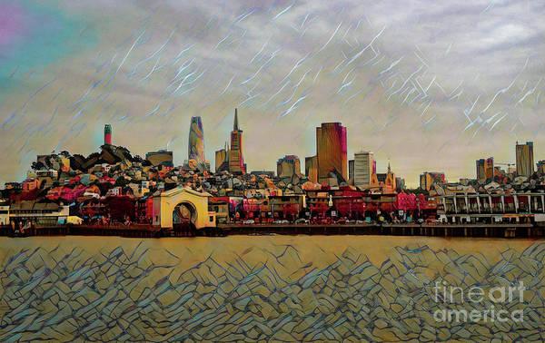 Crouching Digital Art - Fisherman's Wharf by Roxie Crouch