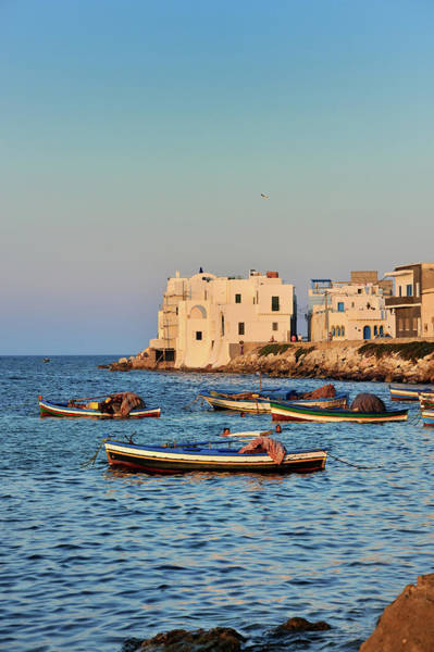 Tunisia Wall Art - Photograph - Fishermen, Boats Along The Peninsula Of by P. Eoche