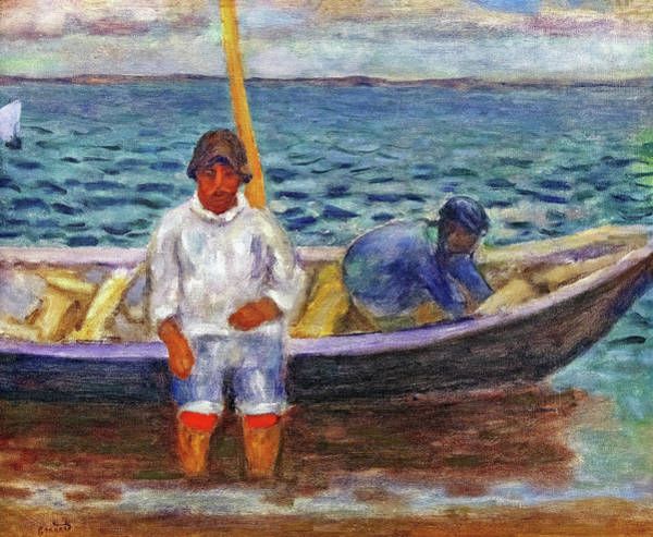 Wall Art - Painting - Fishermen - Digital Remastered Edition by Pierre Bonnard