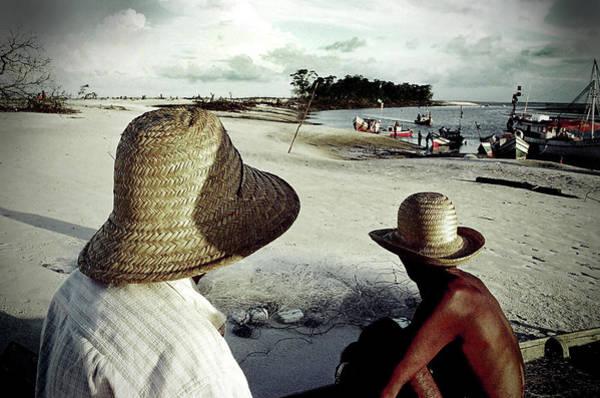 Fishermen In Ajuruteua, Brazil Art Print by Ricardo Lima