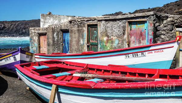 Photograph - Fishermen's Cabins And Boats, Cape Verde by Lyl Dil Creations