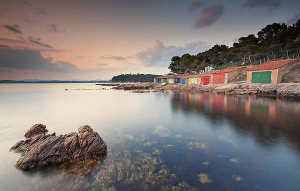 Mimosas Photograph - Fishermen`s Houses by Eric Rousset