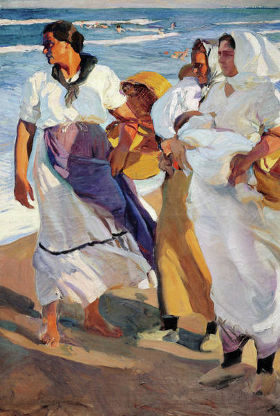 Wall Art - Painting - Fisherwomen From Valencia - Digital Remastered Edition by Joaquin Sorolla