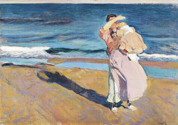 Wall Art - Painting - Fisherwomen With Her Son - Digital Remastered Edition by Joaquin Sorolla