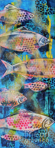 Painting - Fishes In Sea by Ariadna De Raadt