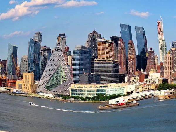 Hells Kitchen Wall Art - Photograph - Fisheye View Of Midtown Manhattan by Carol McGrath