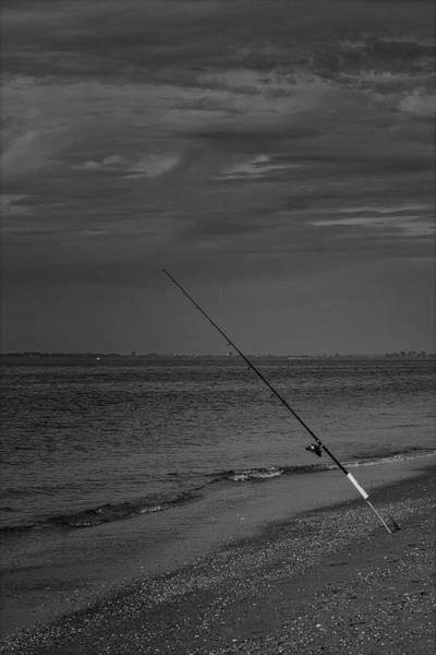 Photograph - Fishing At Keansburg Nj Bw by Susan Candelario