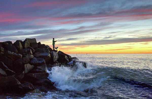 Wall Art - Photograph - Fishing At Sunset by Ann Patterson