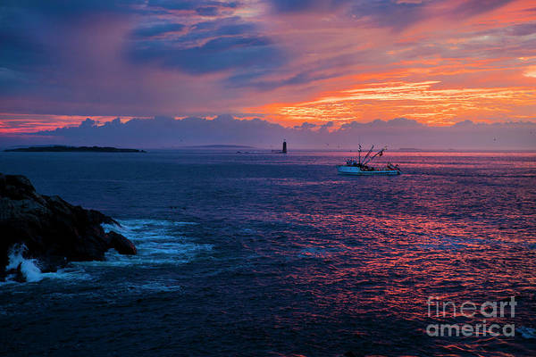 Wall Art - Photograph - Fishing Boat At Sunrise by Diane Diederich