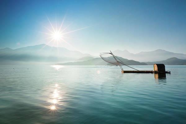 Fishing Boat Photograph - Fishing Boat At Sunrise by Wan Ru Chen