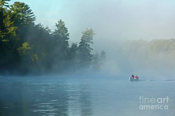 Photograph - Fishing Boat On A Foggy Wilderness Lake  by Kevin McCarthy
