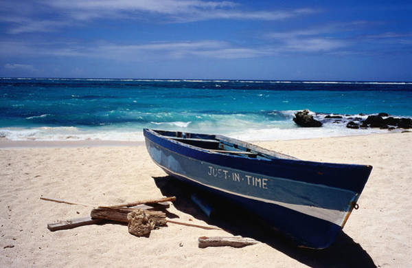 Barbados Photograph - Fishing Boat, Sam Lords Beach by Holger Leue