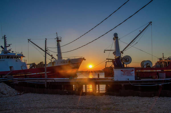 Wall Art - Photograph - Fishing Boat Sunrise - Cape May by Bill Cannon