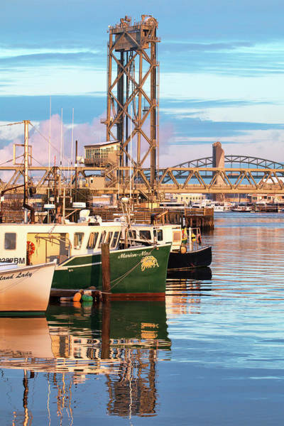 Wall Art - Photograph - Fishing Boats And Bridges by Eric Gendron