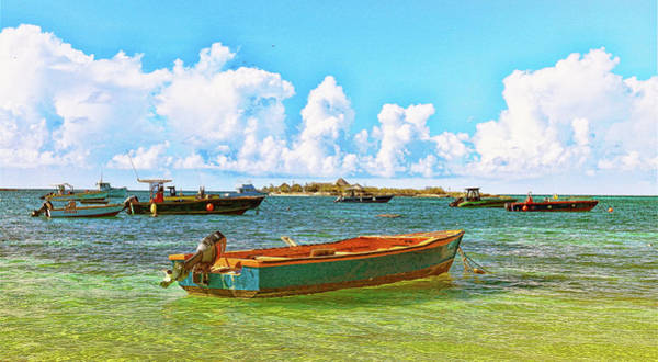Photograph - Fishing Boats At Island Harbour In Anguilla by Ola Allen