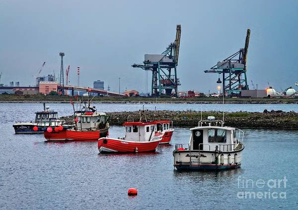 Photograph - Fishing Boats At 'paddy's Hole' Redcar by Martyn Arnold