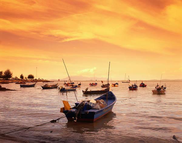 Fishing Boat Photograph - Fishing Boats At Tanjong Bunga, Malaysia by Manfred Gottschalk